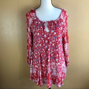 Free People Lucky Loosey Shapeless Boho Dress XS